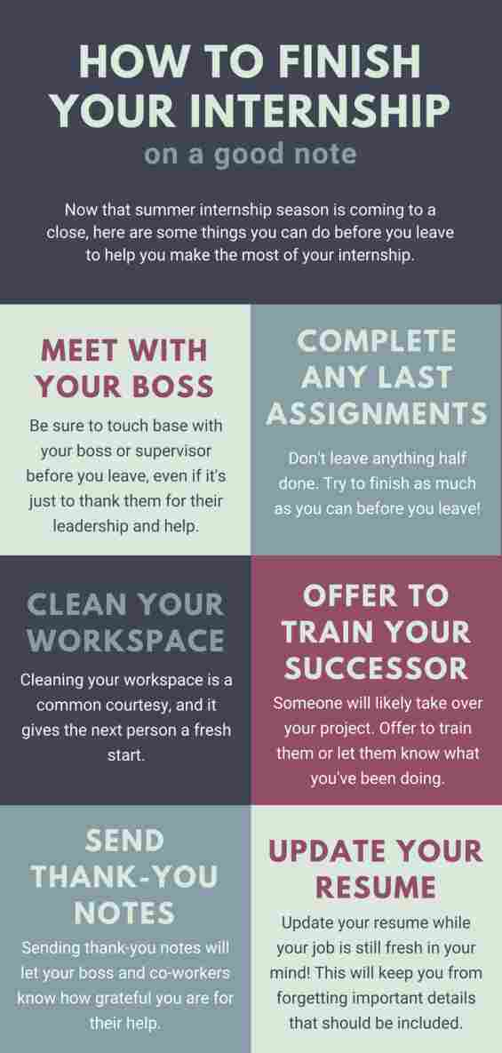 How to End Your Summer Internship on a Good Note | College News