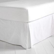 Simple White Bedskirt - Twin XL