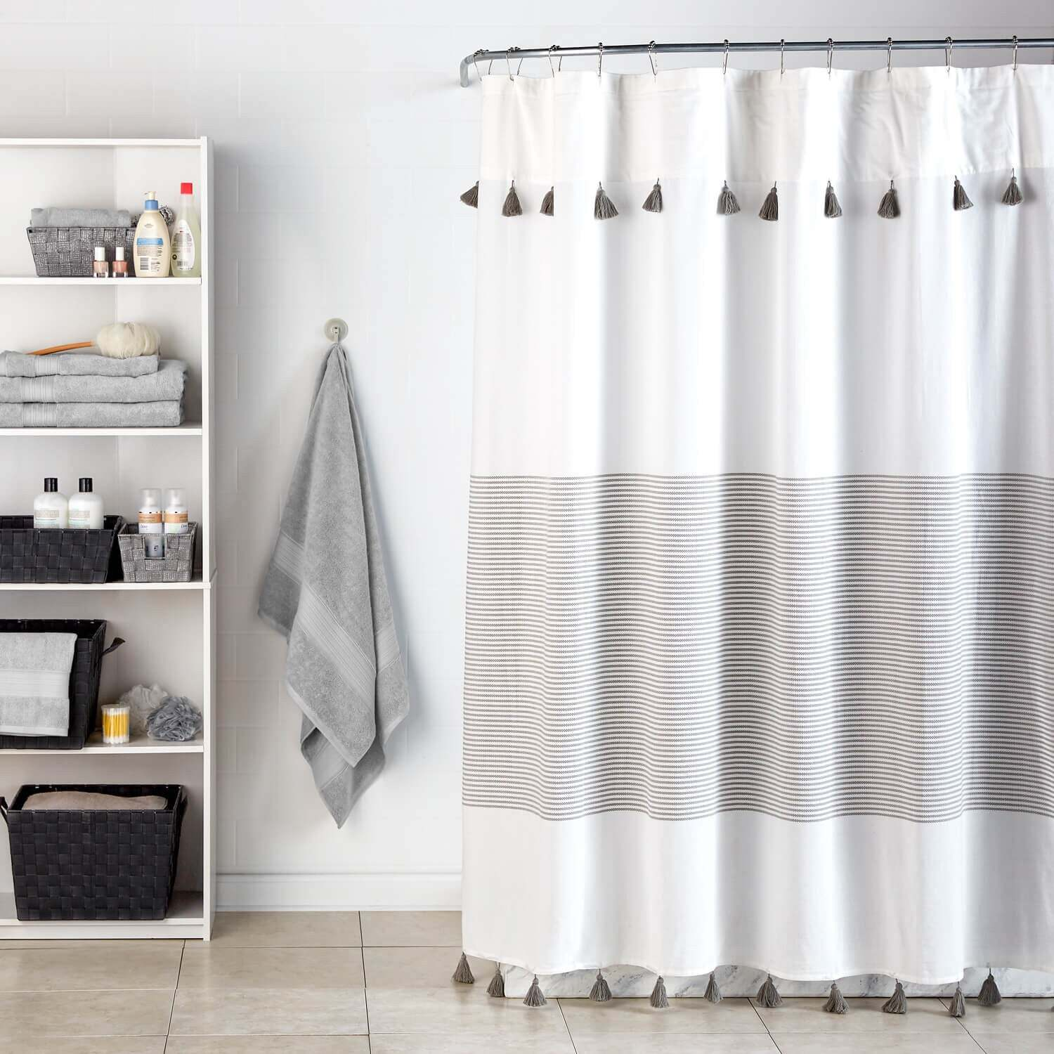 Curtain Couture Minimal And Stylish This Panama Stripe Shower Is Perfect For Adding Some Subtle Chic To Your Bathroom Its Made From 100 Cotton