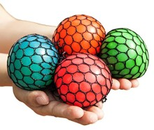 Mesh Squishy Ball Squeeze Grape Ball Relieve Pressure Ball 2PCS