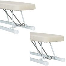 Household Essentials 120001 Small Tabletop Sleeve Ironing Board - Steel Top - Beige / Off-White