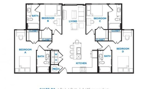 Sublets Near One bedroom/one bath in student apartment