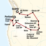 National Parks of the Northwest US