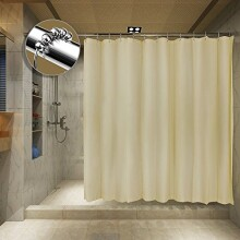 Tishine Mildew Resistant Shower Curtain Water-Repellent and Anti-Bacterial, 72x72 - Champagne