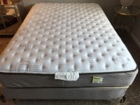 Full Size Mattress, Box Spring, and Bed Frame