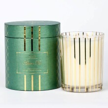 Aspen Fir - 18 oz Candle Gold Stripe